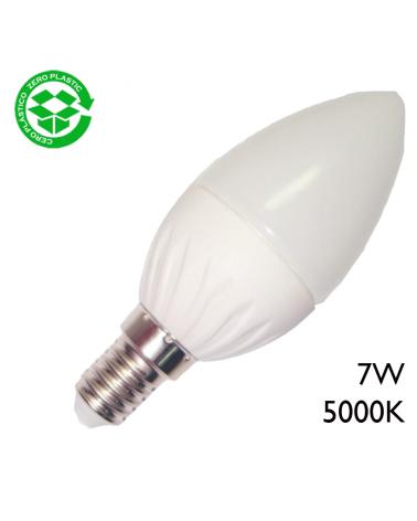 LED candle bulb 7W E14 day light