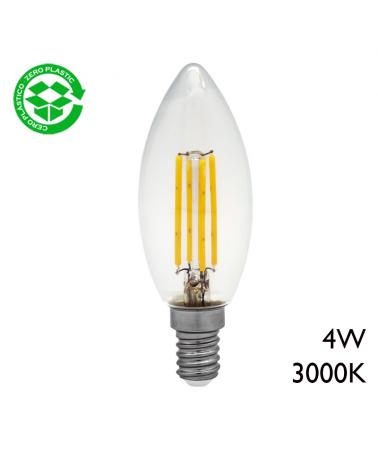 LED candle bulb filament 4W E14 3000K 300Lm