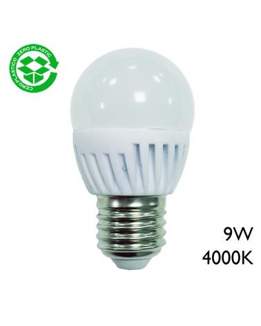 LED Golf ball bulb ceramic 9W E27 4000K
