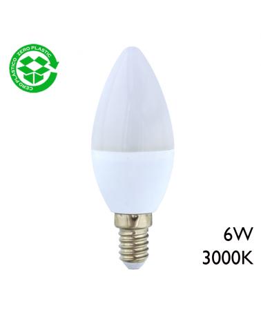 LED candle bulb 6W E14 3000K