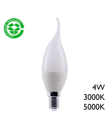 Bombilla vela punta torcida LED 4W E14