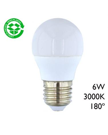 LED Golf ball bulb 6W E27 3000K 180º
