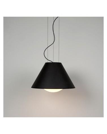 Lámpara de diseño de techo 50cm pantalla en papel gris antracita interior Dorado difusor cristal regulable E27