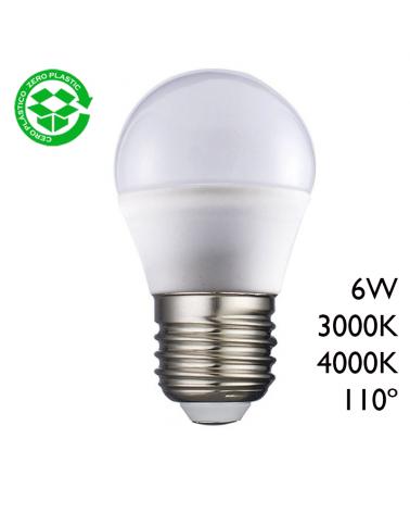 LED Golf ball bulb 6W E27 110º