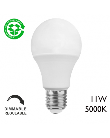 LED Standard dimmable bulb 11W E27 5000K A+