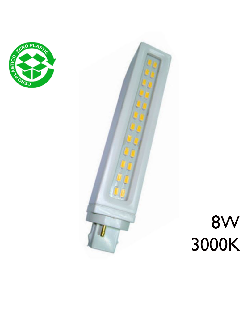 PL LED bulb 8W G24d 3000K 800Lm