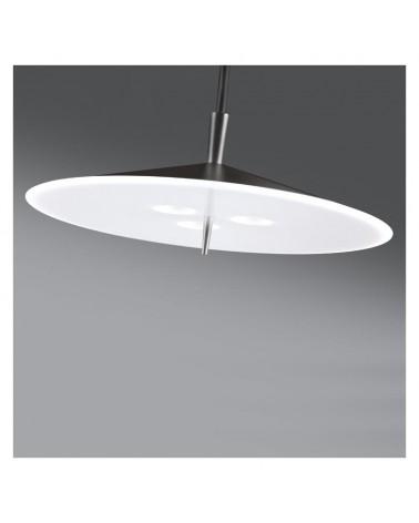 Lámpara de techo de diseño pantalla aluminio plana 40cm regulable 3xLED 7W 2700K 1995Lm