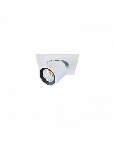 Mini proyector blanco mate de Aluminio 5,7cm.  45º  Switch 2700K/3000K/4000K