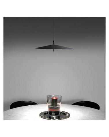 Lámpara de techo de diseño pantalla aluminio plana 60cm regulable 3xLED 12W 2700K 3195Lm