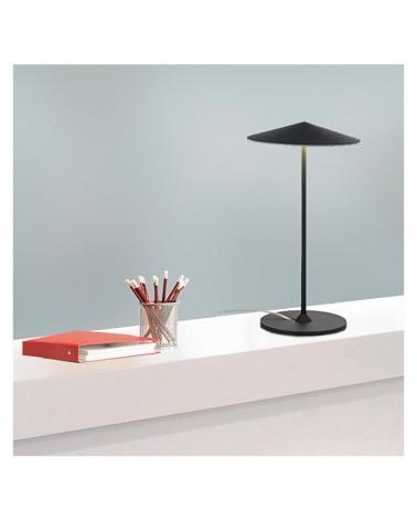 Lámpara de mesa de diseño pantalla aluminio plana 35,3cm regulable 3xLED 5W 2700K 1500Lm