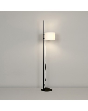Lámpara de pie de  con base de acero y pantalla de poliéster crudo posicionable E27diseño 170 cm