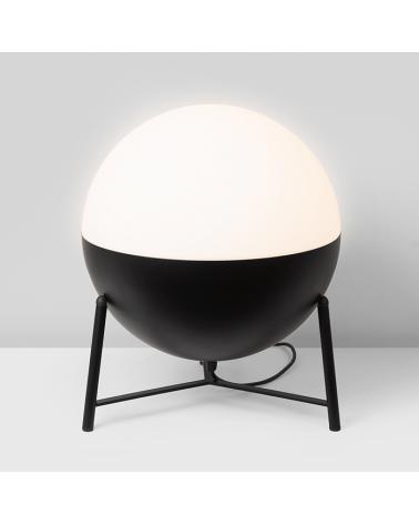 Lámpara de Diseño de mesa esfera móvil de 35cm con soporte tripode 17,5cm E-27