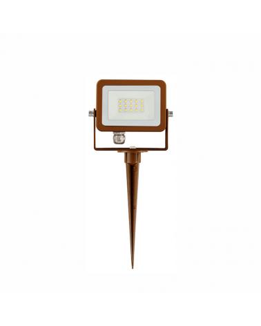 Pincho de jardín Aluminio foco IP65 luz verde LED 10W 180° 820 Lm.