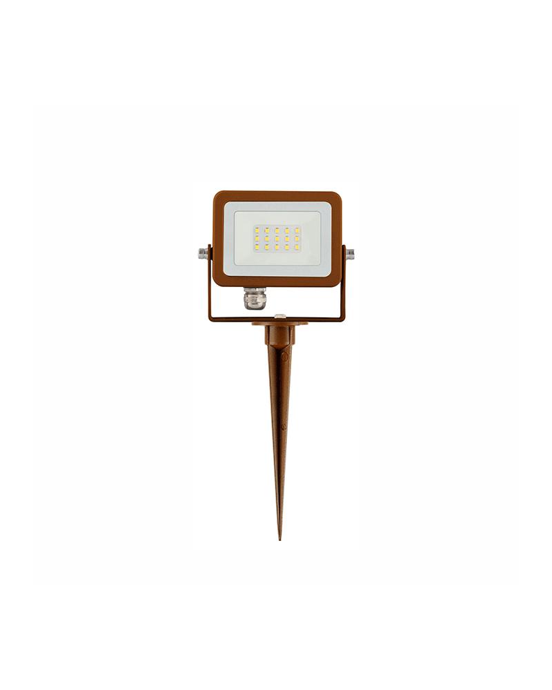 Garden spike Aluminum spotlight IP65 green light LED 10W 180º 820 Lm.