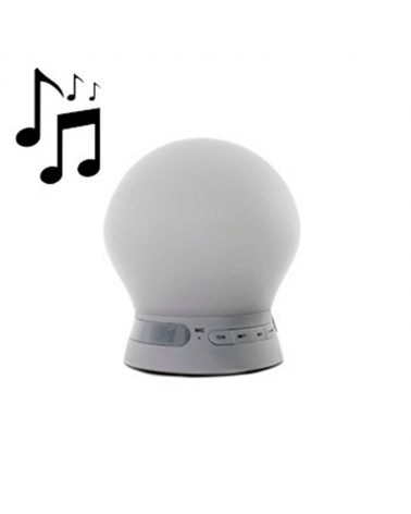 Lámpara de sobremesa 12cm. LED Regulable MUSIC 3W RGB & altavoz Bluetooth 6500K 50 Lm.