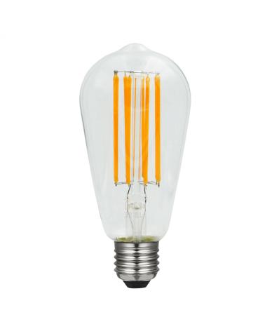 Bombilla Vintage Antorcha 64 mm. filamentos LED E27 Regulable 8W 2200 K 630 Lm.