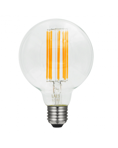 Bombilla Vintage Globo 95 mm. LED filamentos Regulable E27 8W 2200K 630 Lm.