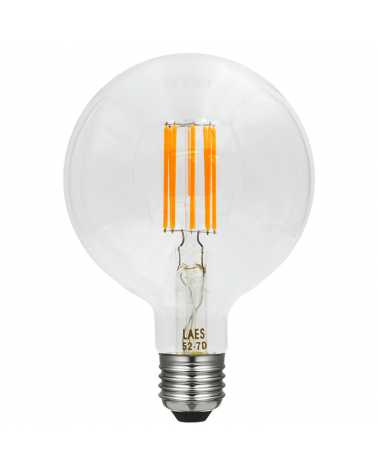 Bombilla Vintage Globo 150 mm. filamentos LED Regulable LED E40 8W 2200K 630 Lm.