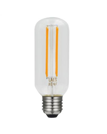 Bombilla Vintage Tubular 45 mm. filamentos LED Regulable E27 4W 2200K 330 Lm.