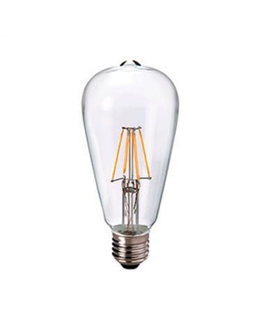 Bombilla Vintage Antorcha 64 mm. filamentos LED Regulable E27 4W 2200K 390 Lm.