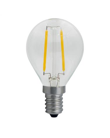 Bombilla Vintage Esférica 45 mm. Claro filamentos LED Regulable E14 4W 2700K 400 Lm.
