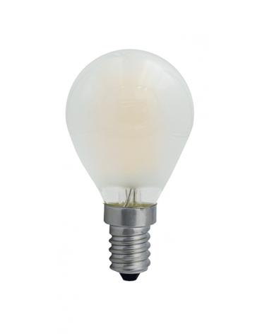 Bombilla Vintage Esférica 45 mm. Mate filamentos LED Regulable E14 4W 2700K 450 Lm.