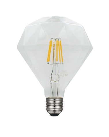 Bombilla Rombo 1 Claro 110 mm. filamentos 5 W LED Regulable E27 2700K 480 Lm.