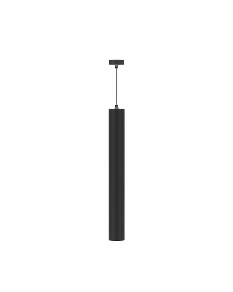 Lámpara de techo acabado negro cilindro estilizado LED 10W de 45cm altura ángulo variable