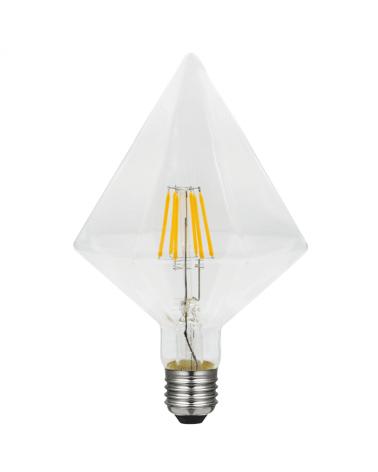 Bombilla Rombo 2 Claro 125 mm. filamentos 5 W LED Regulable  E27 2700K 480 Lm.