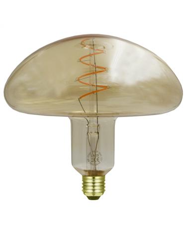Bombilla Boletus Ámbar 200 mm. filamentos LED Regulable 6W E27 2200K 200 Lm.