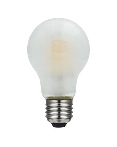 Bombilla Standard  Opal 60 mm. filamentos LED E27 6W 2700K 600Lm.