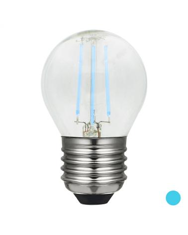 Bombilla Esférica 45 mm. filamentos Color Azul Regulable LED E27 4W