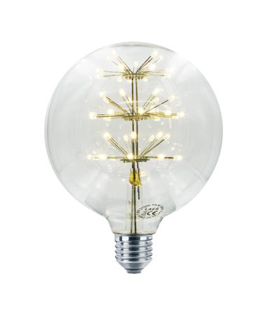 Bombilla Globo Clara 125 mm. Árbol LED E27 1,8W 2200K 145Lm.