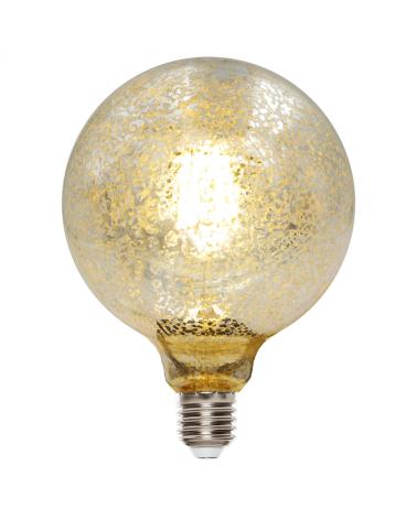 Bombilla Globo Cromo Craquelado 125 mm. filamentos LED  E27 6W 2200K 480Lm.