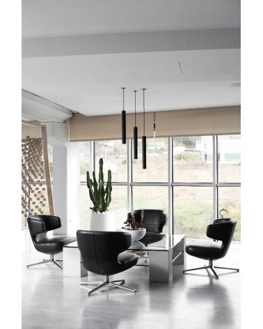 Lámpara de techo acabado negro cilindro estilizado GU10 de 45cm altura