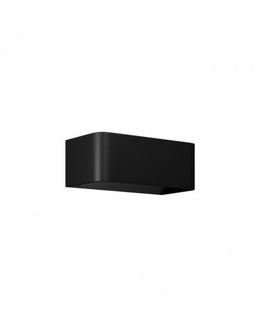 Aplique de pared Aluminio acabado negro LED 7W 20cm 770 Lm.