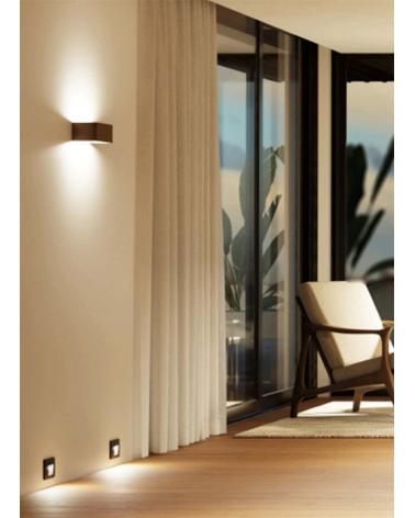 Aplique de pared Aluminio acabado marrón óxido LED 7W 20cm 770 Lm.