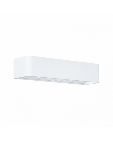 Aplique de pared Aluminio acabado blanco LED 12W 37cm 1320 Lm.