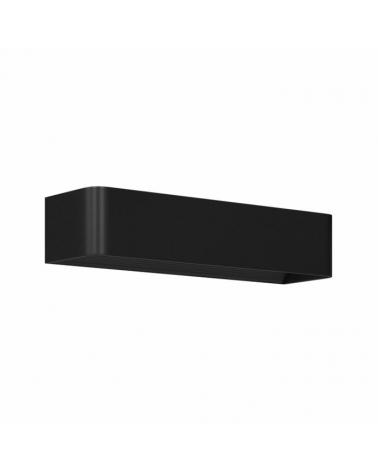 Aplique de pared Aluminio acabado negro LED 12W 37cm 1320 Lm.