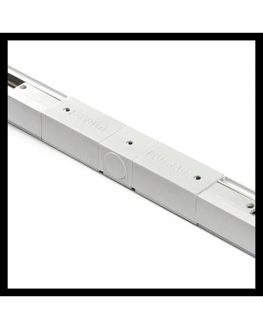 Conector de carriles recto universal 105cm trifásico color blanco
