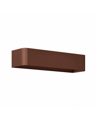 Aplique de pared Aluminio acabado marrón óxido LED 12W 37cm 1320 Lm.