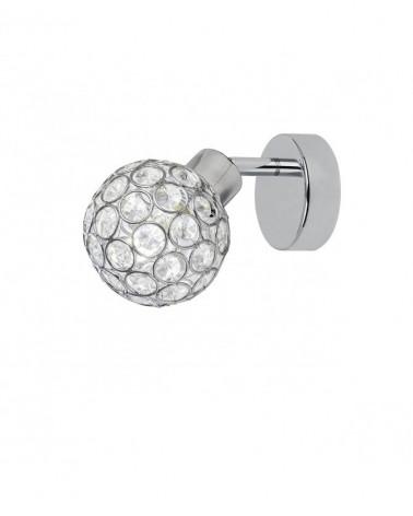 Aplique 15cm color cromo difusor imitación diamante con marcos metálicos 40W G9