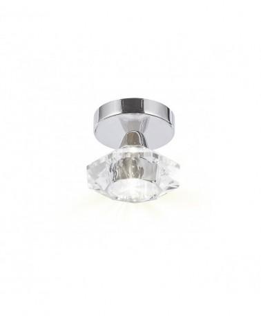Aplique con forma diamante base cromo 1 X 40W G9