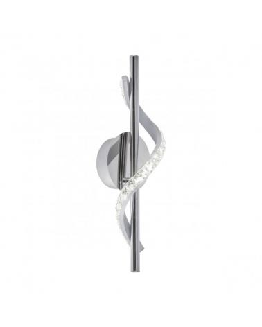 Aplique de pared 37cm cristal diamante ondulante sobre metal cromado LED retroiluminado 8W 4000K 760LM