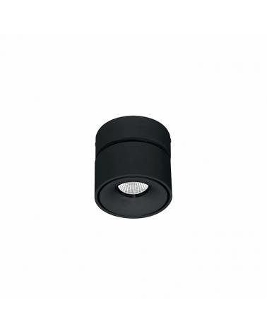 oco cilindro cúbico de pared y techo mini 7,5cm acabado negro LED 8W Aluminio basculante 90º 850 Lm.