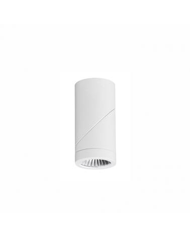 Foco cilindro de pared y techo 6cm Acabado blanco LED 8W Aluminio basculante 355º 1040 Lm.