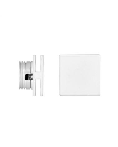 Señalizador cuadrado blanco 50x5cm Aluminio de interior 4W LED 3000K 60 Lm.