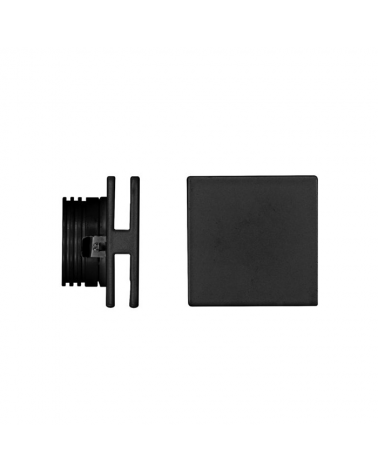 Señalizador cuadrado negro 50x5cm Aluminio de interior 4W LED 3000K 60 Lm.