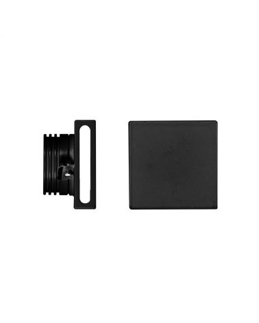 Señalizador cuadrado negro 50x5cm Aluminio de interior 4W LED 90º 3000K 60 Lm.