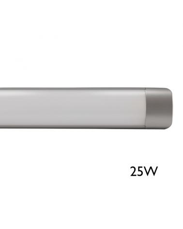 Lámpara de techo LED 25W 61,30cms luz blanca 4000K 2945Lm. acabado gris